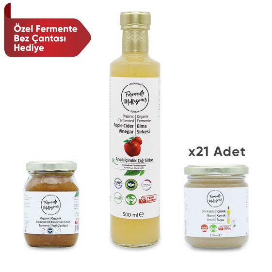 Fermente Mutfağım - 21 Günlük Sabah Detoks Paketi