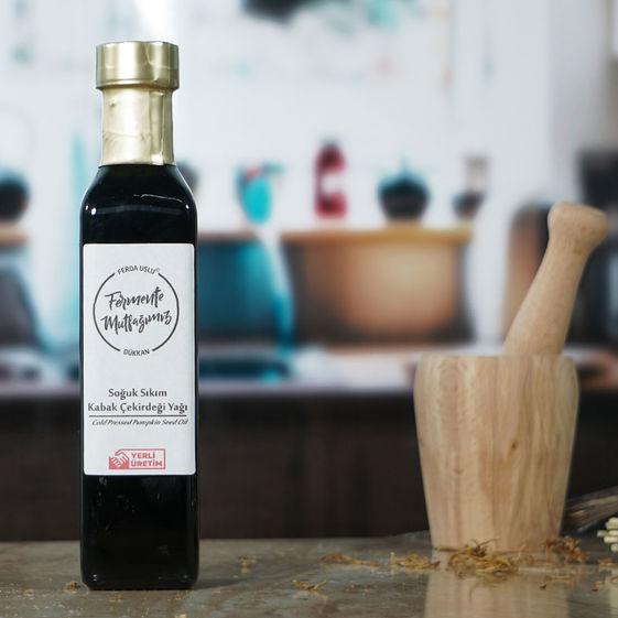 Fermente Mutfağım - Soğuk Sıkım Kabak Çekirdeği Yağı (1)